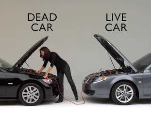 how to jumpstart a car battery with jumper cables