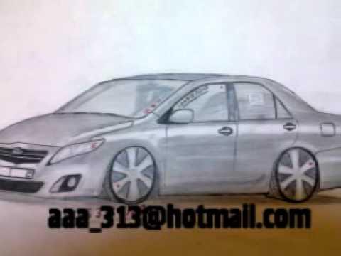 تعليم طرق رسم سيارات