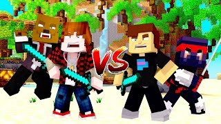 Best Moments of Minecraft Monday #1 - I tried to SAVE Ninja & Mr Beast (Funny / Epic)