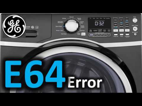 E64 Error Code SOLVED!!! GE Front Load Washer Washing Machine