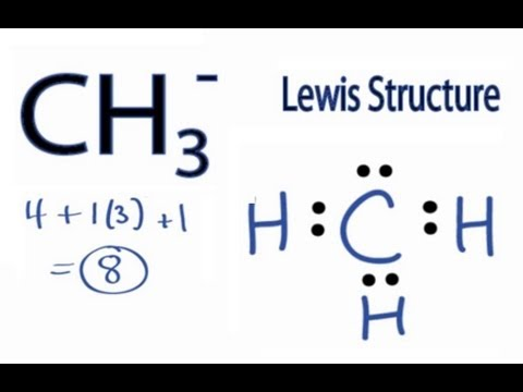 CH3- Lewis Structure: How to Draw the Lewis Structure for CH3-