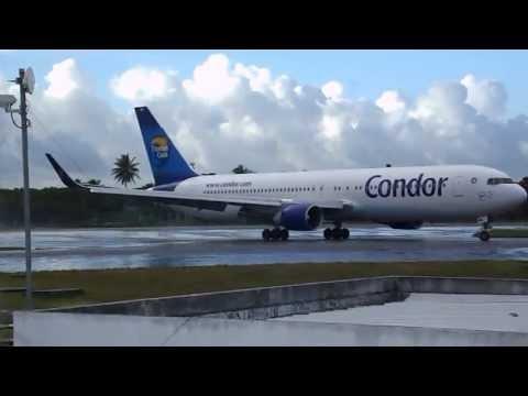 Aviação do Brasil: Condor (D-ABUB) Boeing 767-383ER taxiando pela cabeceira-10 em Salvador/BA