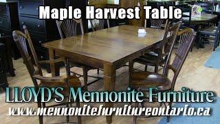 Mennonite Maple Harvest Table