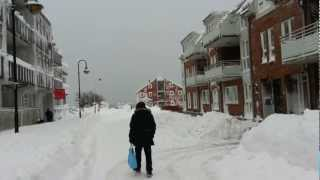 Kristiansand Norway  city images : Kristiansand (Norway), Markensgata, with snow 24.12.12