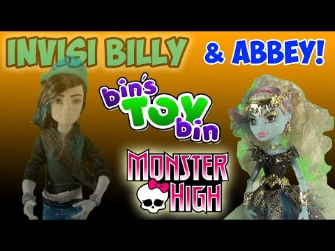 bin - Halloween week continues with a review of Monster High Invisi Billy and 13 Wishes Abbey Bominable! Thanks for watching and don't miss a BIG Monster High review tomorrow for Halloween! Don't...