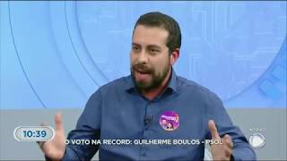 Boulos é o entrevistado da Record TV