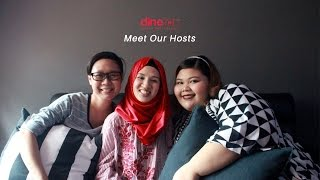 Meet our Hosts: Shartini, Kharunnisa and Khairunnisa Jika anda mempunyai keghairahan untuk memasak, marilah sertai kami sebagai Host Dine Inn and berkongsi masakan anda dengan orang lain!Hantarkan PM atau layari laman web www.dineinn.com untuk mendaftar sebagai Host sekarang. Hubungi kami di 6796 9340 atau email kami di hosts@dineinn.com untuk pertanyaan lanjut.If you've got the passion for cooking, come join us as a Host and get to share your food with others! Simply drop us a PM or visit our website at www.dineinn.com to sign up as a Host now. Call us at 6796 9340 or email us at hosts@dineinn.com for further enquiries.Dine Inn is a one-stop community marketplace that connects the makers and lovers of food. Tuck into a heart-warming home-cooked meal and share your culinary experiences with new friends.Join the Dine Inn family today!