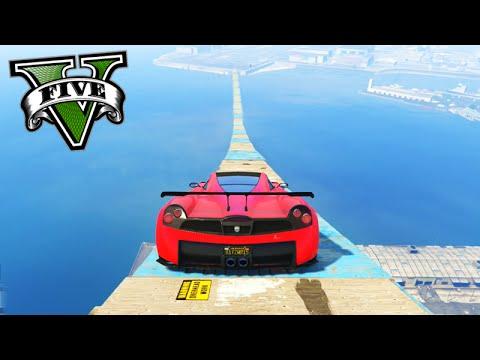 GTA V Online: A MAIOR RAMPA do JOGO!!! - Corrida INSANA #445