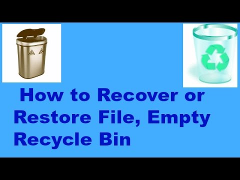 How To Recover Or Restore File, Empty Recycle Bin(Bangla Tutorial)