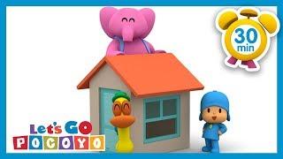 Pocoyo português Brasil - Let's Go Pocoyo!   A casinha da Elly 30 MINUTOS [Episódio13] HD  DESENHOS ANIMADOS para crianças