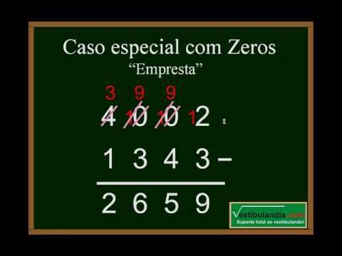 Matematica Zero - Aula 2- Subtração