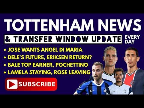 TOTTENHAM NEWS & TRANSFER WINDOW UPDATE: Jose Wants Di Maria, Dele's Future, Eriksen Return? Lamela