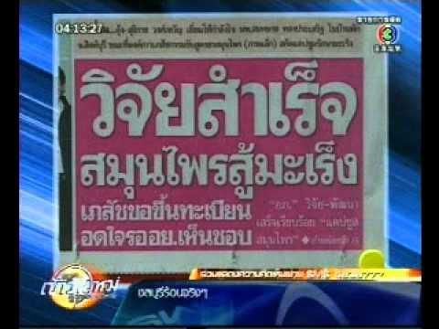 สมุนไพรต้านมะเร็ง 01 09 2010 TV3