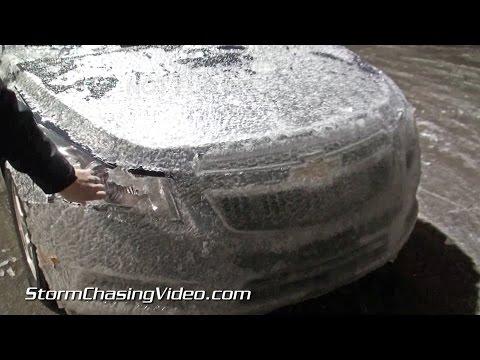 2/20/2015 Mt. Vernon & Jefferson County, IL Ice Storm Overnight B-Roll