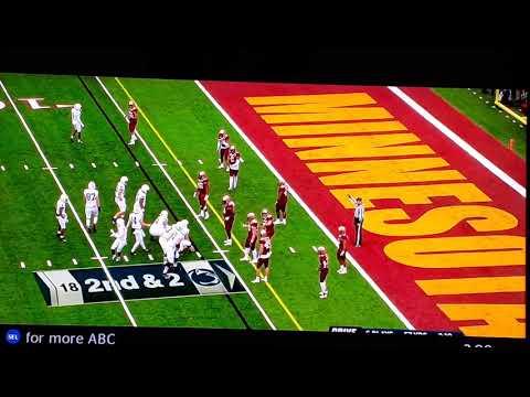 College Football #4 Penn St gets upset by #17 Minnesota