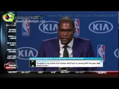 2013  14 NBA MVP Speech Kevin Durant