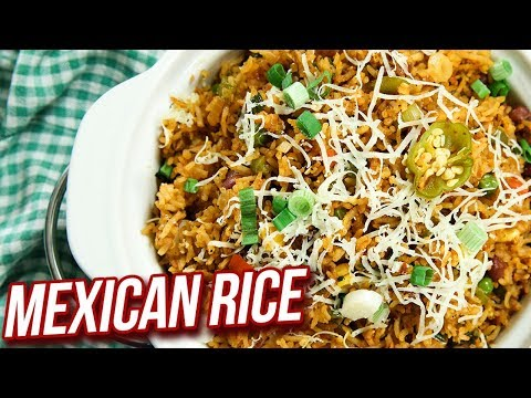 Mexican Rice Recipe – How To Make Mexican Rice – Easy One Pot Meal – Ruchi Bharani