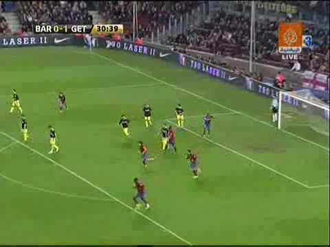 Barcelona 1 - 1 Getafe (Liga Española 2009)