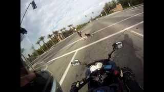 6. 2005 Ninja 250 acceleration top speed w/ helmet cam Gopro Hero