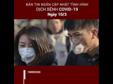 Bản tin ngắn cập nhật tình hình dịch bệnh Covid-19 trên toàn thế giới (Ngày 10/03/2020)