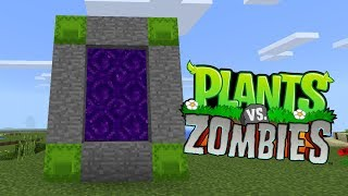How To Make a Portal to the Plants vs Zombies Dimension in Minecraft PE