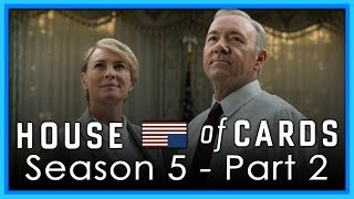 Whitebalancing issues are proudly brought to you by lack of sleep.SEASON 5 REVIEW PART 1: https://youtu.be/II4v_DqQw4ASEASON 4 REVIEW: https://youtu.be/MIWBqozPROYFrank and Claire Underwood fight for self preservation in the new season of House of Cards. Season 4 was a return to form for the series after a disappointing season 3. How will the new season stack up?Subscribe today to get the latest from TVJunkie!Follow me on Twitter: http://www.twitter.com/TVJunkie93Lets have a conversation in the comments!