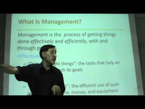 management - This is a short, 12-week introductory course in Management. Chapter 1 covers the very basics of the subject. Management, Organization, Managers, nonmanageria...