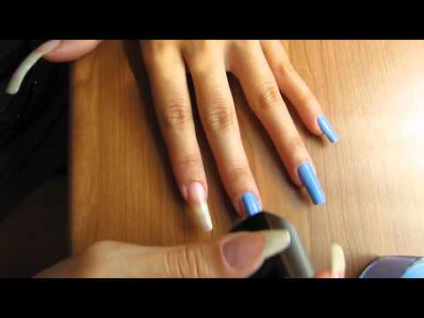 Diavoletta86 polish her long natural nails (video 18)