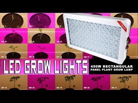 LED Grow Light Panel Plant Grow Lamp 450 Watt Rectangular
