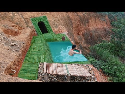 Amazing ! Dig to build undergroud house and infinity swimming pool on the cliff - Thời lượng: 12 phút.