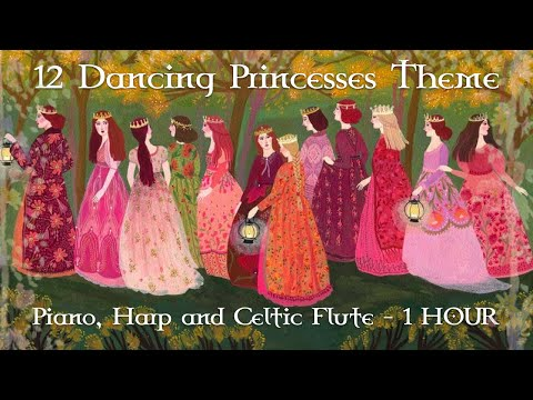 Barbie 12 Dancing Princesses Theme // Piano, Harp and Celtic Flute ver // 1 HOUR VER.