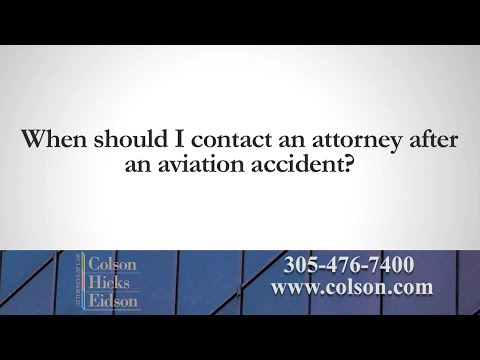 Should I Contact an Injury Attorney After an Aviation Accident?