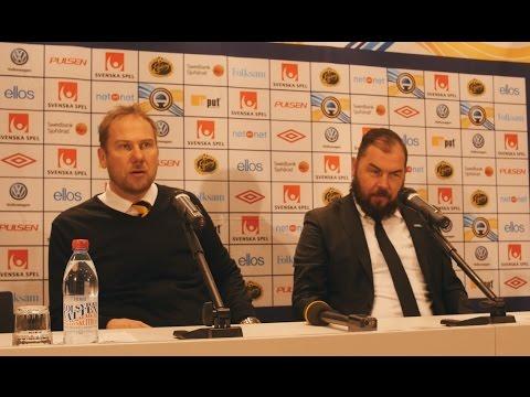 Presskonferens med Alexander Axén och Magnus Haglund