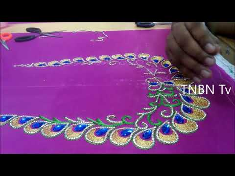 Hand Embroidery Stitches Tutorial For Beginners Maggam Work Blouse