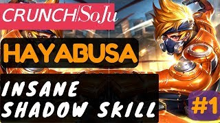 Insane Shadow Skill [Rank 3 Hayabusa]  Hayabusa Gameplay and Build By ᴄʀᴜɴᴄʜSoJu Mobile Legends.https://www.youtube.com/watch?v=ljLJLFxgRp0#MLBB #Crunch #Soju #Hayabusa #Toprank #toprankedPlayer              : ᴄʀᴜɴᴄʜSoJuTeam               : ᴄʀᴜɴᴄʜBattle Spells   : RetributionBuild                : Magic Shoes, Bloodlust Axe, Dominance Ice, Hunter Strike, Immortality, Malefic Roar.Highest Rank  : LegendMore Videos: Post Nerf [Rank 1 Saber]  Saber Gameplay and Build By alive.Joker #3 Mobile Legends.https://youtu.be/5YNmEAG1JcoIt's Over 9000!!! [Rank 1 Alucard]  Alucard Gameplay and Build By ◤Saiyan◢ Fredo #4 Mobile Legends.https://youtu.be/jt-j4Bve2noMeta Build [Rank 4 Layla]  Layla Gameplay and Build By gEnE ^_^ Mobile Legends.https://youtu.be/mUD5eZX1jmYPerfect Play [Rank 4 Fanny]  Fanny Gameplay and Build By  ᴢxυαи εϊɜ Mobile Legends.https://youtu.be/_RTMcYpl_3sTop Player Showdown #2 [Rank 1 Chou]  Chou Gameplay and Build By ⌠ίaÐsAɓnε⌠ Mobile Legends.https://youtu.be/R73oCjKWShc===============================================Music :Intro and outro:Warriyo - Mortals (feat. Laura Brehm) [NCS Release] https://www.youtube.com/watch?v=yJg-Y5byMMwConnect with NCS:Snapchat: ncsmusic• http://soundcloud.com/nocopyrightsounds• http://instagram.com/nocopyrightsounds• http://facebook.com/NoCopyrightSounds• http://twitch.tv/nocopyrightsounds• http://twitter.com/NCSounds• http://spoti.fi/NCSWarriyo• https://soundcloud.com/warriyo• https://www.facebook.com/WarriyoMusic/• https://twitter.com/warriyo• https://www.youtube.com/WarriyoMusicLaura Brehm• https://soundcloud.com/laurabrehm• https://www.facebook.com/laurabrehmmusic• https://twitter.com/laurakbrehm• https://www.youtube.com/user/laurabrehmJoin your friends in a brand new 5v5 MOBA showdown against real human opponents, Mobile Legends! Choose your favorite heroes and build the perfect team with your comrades-in-arms! 10-second matchmaking, 10-minute battles. Laning, jungling, tower rushing, team battles, all the fun of PC MOBAs and action games in the palm of your hand! Feed your eSports spirit!Mobile Legends, 2017's brand new mobile eSports masterpiece. Shatter your opponents with the touch of your finger and claim the crown of strongest Challenger!