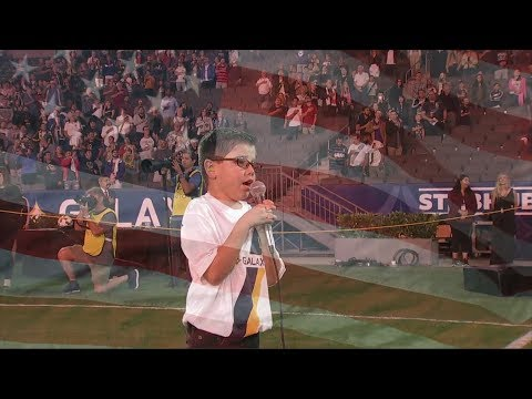 Video: Gavin Stevens sings the national anthem at LA Galaxy vs. Real Salt Lake