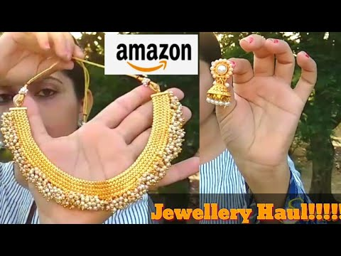 AMAZON JEWELLERY HAUL l ONLINE JEWELLERY l AMAZON UNBOXING JEWELLERY TRY ON & REVIEW