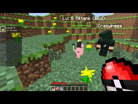 Minecraft Pixelmon Multiplayer #1 - Mostrando os Pokémons