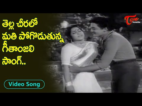 Geetanjali tempting white Saree Song with Shoban Babu | Geetanjali Superb Song | Old Telugu Songs