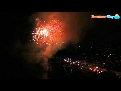 I fuochi d'artificio alla festa di Santa Restituta a Lacco Ameno d'Ischia