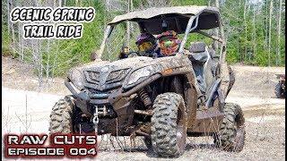 9. Scenic Early Spring UTV Trail Ride - RZR XP Turbo + CFMOTO 800 Trail #TeamAJP Raw Cuts - Episode 004