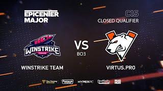 Winstrike Team vs Virtus.pro, EPICENTER Major 2019 CIS Closed Quals , bo3, game 2 [Adekvat & Smile]