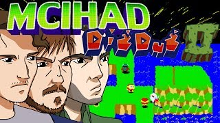 """The lesser known (but I would say, superior) sequel to the beloved classic about murder by gruesome rectal distension, DIG DUG II: RISE OF THE HELL CONTINENT (subtitle may be inaccurate; I'm going from memory) pits skilled players (or in our case, Keith) against ennui-afflicted creatures in some kind of bewildering partition-puzzles as part of a brutal zero-sum survival scenario. Murder your way to victory as the very land beneath your feet is turned into an all-consuming weapon to aide your interminable quest for blood. Plus, as is so often the case these days, lots of silly fuckin' voices. The premise of this model of episode: Keith does bad, everyone gets mad. 10/10, share with your friends and relatives. If this one doesn't """"go viral"""" I will eat a dog. Patreon: http://www.patreon.com/troubleplanetTrouble Planet gets sosh:Facebook: https://www.facebook.com/Troubleplanet/Twitter: https://twitter.com/troubleplanet------------------------------------------------Dig Dug II (ディグダグⅡ? Digu Dagu Tsu), subtitled Trouble in Paradise for Bandai's American NES port, is the arcade sequel to Dig Dug, released by Namco in 1985. It runs on Namco Super Pac-Man hardware but with a video system like that used in Mappy, The Tower of Druaga and Grobda (without the DAC).A reimagined version for the PC titled Dig Dug Island, featuring online multiplayer and graphical style of Dig Dug Remix, was released in 2008 exclusively in Japan. However, the game's servers were shutdown in just under a year, leaving it now unplayable.Unlike the first game, Dig Dug II takes place on an island with an overhead view. The goal is more or less the same: to kill all the enemies on the round. There are two types of enemies; Pookas (the round red monsters with goggles) only have the power to kill a player by touching him, but Fygars (the dragons) have the power to kill a player either by touching him or horizontally breathing fire to burn him.In this game, Taizo Hori (the player's character) is armed with """