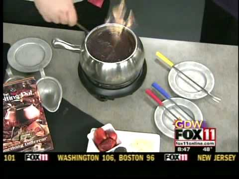 wluk - The Melting Pot makes Chocolate Fondue.