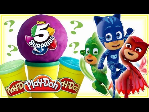 Play Doh • 5 NIESPODZIANEK & Pidżamersi • bajki dla dzieci