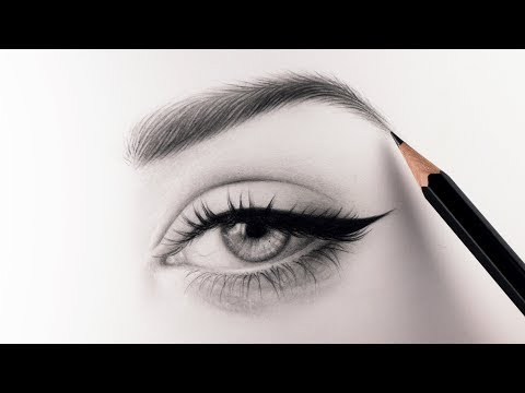 How To Draw Realistic Eyebrows - Narrated