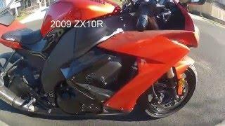 7. 2009 Kawasaki ZX10R walk around test ride review