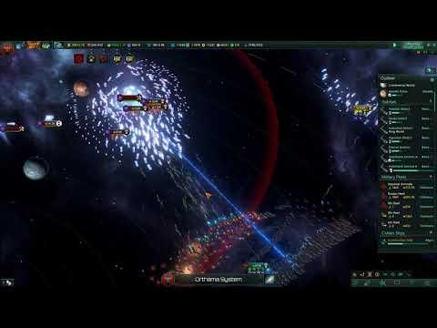 Stellaris Huge Fleet (1.2 Million) vs Unbidden [No Cheats]