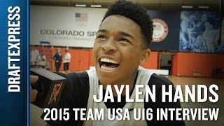 Jaylen Hands 2015 Team USA U16 Interview - DraftExpress
