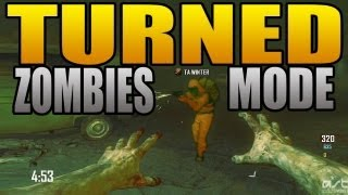 New &quot;Turned&quot; Zombies Black Ops 2 Gameplay (BO2 Play as a Zombie Game Mode Revolution DLC)